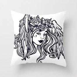 flying head.Gamayun.Sirin.Alconost. Throw Pillow