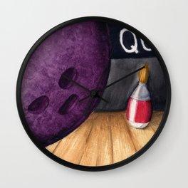 Bowling Pun Wall Clock