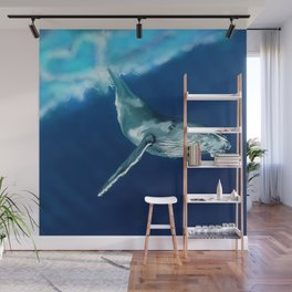 """Humpback Whale Singing """"Dive with Me"""" Wall Mural"""
