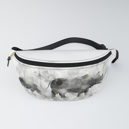 Rhino and Calf Fanny Pack