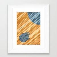 millenium falcon Framed Art Prints featuring Millenium Falcon by Szoki