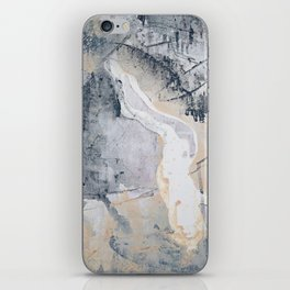 As Restless as the Sea: a minimal abstract painting by Alyssa Hamilton Art iPhone Skin