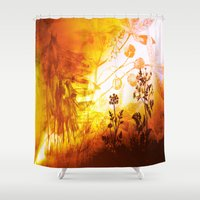 horses Shower Curtains featuring Horses by Vitta