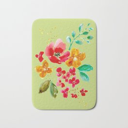 Poppy Bouquet Bath Mat