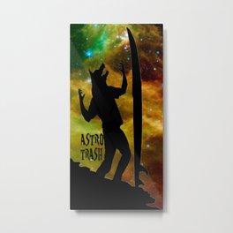 Surf Werewolf in Space Metal Print