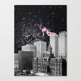 Ladies and gentlmen we are floating in space! Canvas Print