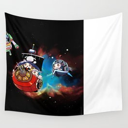 Pups in Space! Wall Tapestry