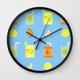 Juice Pattern Wall Clock