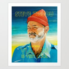Life aquatic is very cool Art Print