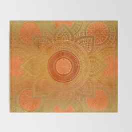 """Sabana Dawn Light Mandala"" Throw Blanket"