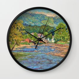 Landscape 1899 - Theodore Clement Steele Wall Clock