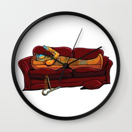 Couch Mummy Wall Clock