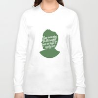 niall horan Long Sleeve T-shirts featuring Niall Horan Silhouette  by Holly Ent