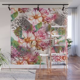 Animal flowers abstract Wall Mural