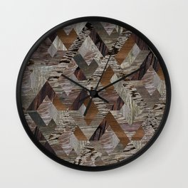 Wood Quilt Wall Clock