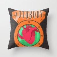 bioshock infinite Throw Pillows featuring Betterman's Autobody - Bioshock Infinite by Jacob Hansen