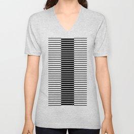 Zebras Play Piano Duet Unisex V-Neck