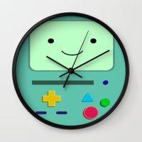 bmo Wall Clocks featuring BMO by skyetaylorrr
