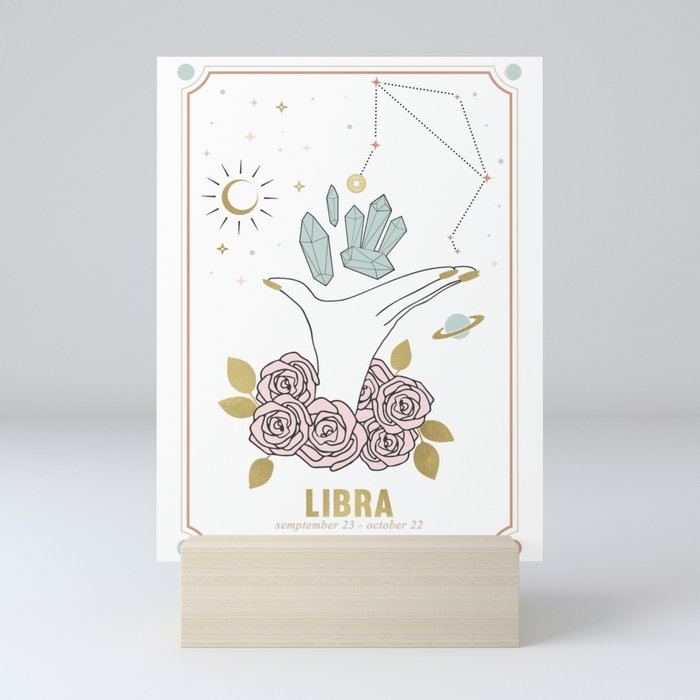 Libra Zodiac Series Mini Art Print
