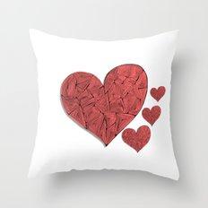 Heart-print Throw Pillow