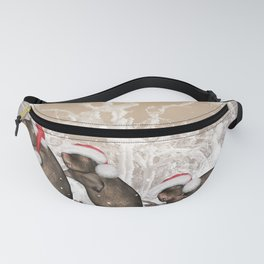 Funny christmas rats Fanny Pack