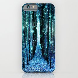 Magical Forest Teal Turquoise iPhone Case