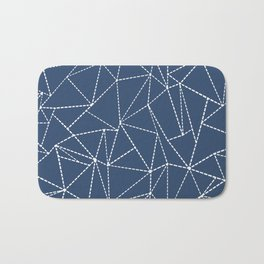 Ab Dotted Lines Navy Bath Mat