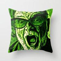 scream Throw Pillows featuring SCREAM! by Silvio Ledbetter