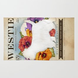 Westie West Highland Terrier seed company dog art illustration by Stephen Fowler Rug