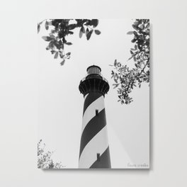 Cape Hatteras Black and White Metal Print