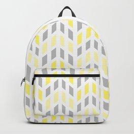 Yellow Gray Mosaic Tile Backpack