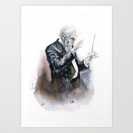 Leonard Bernstein Portrait Art Print