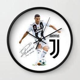 ronaldo juventus 2018 Wall Clock