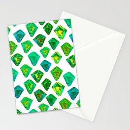 Green gemstone pattern. Stationery Cards