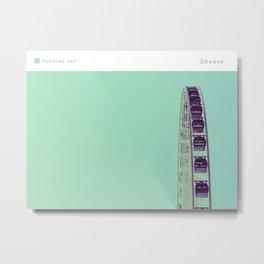Pantone: Gdansk Metal Print