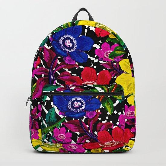 Daisy Pattern Backpack