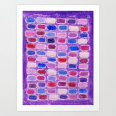 Red and blue gives you... Art Print