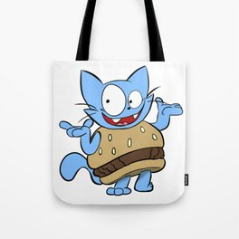 Hamburger Cat Tote Bag