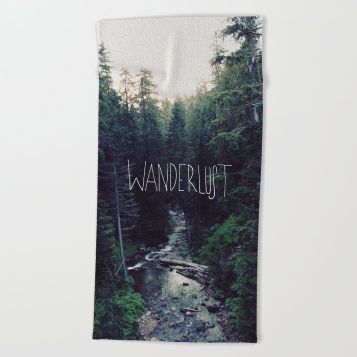 Wanderlust: Rainier Creek Beach Towel