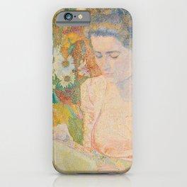 Portrait of Mrs. Marie Jeannette de Lange - Jan Toorop (1900) iPhone Case