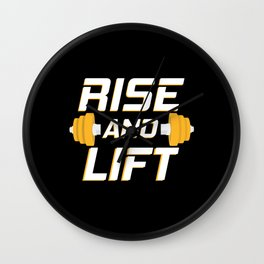 Rise and Lift Wall Clock