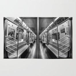 NYC subway N train Rug