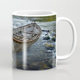 Canoe on the Thornapple River in Autumn Coffee Mug