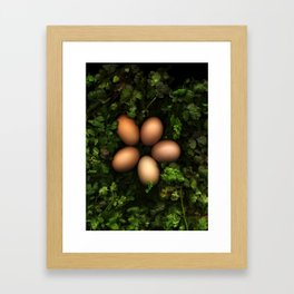 Eggs in a Green Nest Framed Art Print
