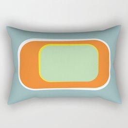Mod Pod -Retro Turquoise Orange Rectangular Pillow