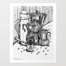 Moka Mia - Inktober #3 Art Print