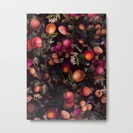 Vintage Fruit Pattern XXIV Metal Print