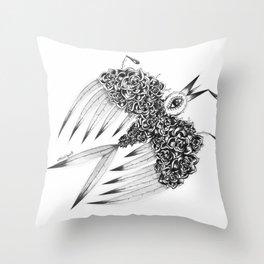 """ Spring"" (b&w) Throw Pillow"