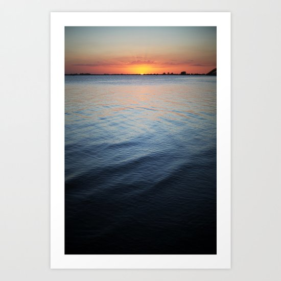 Calm surf Art Print