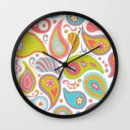 Power Paisley Wall Clock